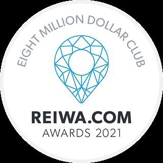 REIWA award - eight million dollar club 2021