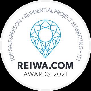 REIWA award - top sales person 2021